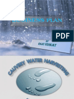 Cauvery Water Harvesting Business Plan