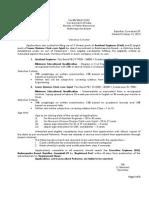 Vacancy Circular for AE LDC