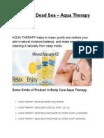 Cosmetics Dead Sea - Aqua Therapy