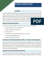 Pariharam for Kala Sarpa Dosham Online Chennai
