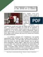 Papa Francisco preside la Pasión del Señor. Intevención del P. Raniero Cantalamessa