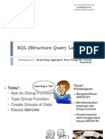 SQL 05 - Reporting Aggregate Data Using the Group Function