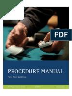 Poker Procedure Manual