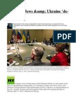 On Nazis, Jews & Ukraine 'de-escalation'