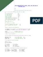 Matlab Programme in ship dynamics
