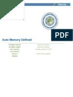Auto Memory Defined