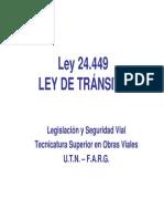 Ley 24.449- LEY DE TRÁNSITO (Filminas)