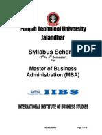 PTU MBA Syllabus (S05 Session)