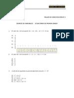 Taller de Ejercitación 04 - Ecuación de 1er Grado