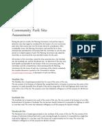 community park site assessment