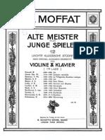 Alte Meister für Junge Spieler (Moffat, Alfred) Piano - acompañamiento