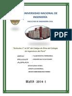 informe del código de ética del colegio de ingenieros
