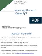 Neerajbhatia Presentation CapacityPlan