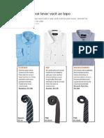Dicas de Camisa Social Com Gravata