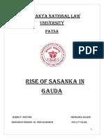 Rise of Sasanka King In Gauda