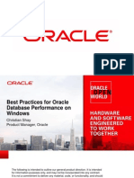 Oow 2013 BestPracticesforOracleDatabasePerformanceonWindows
