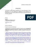 Alegaciones Borrador Real Decreto Ley [2]