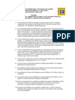 TALLER 2 FISICA III CONDENSADORES, CORRIENTE ELCTRICA, LEY DE OHM, POTENCIA ELECTRICA, CIRCUITOS ELECTRICOS..docx