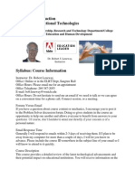 edt 6440 course introduction syllabus