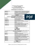 COLEGIO LEÓN DE GREIFF Cronograma 2014