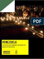 Informe Venezuela. Los Derechos Humanos en Riesgo en Medio de Protestas