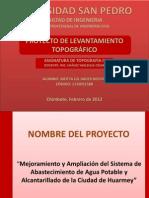 PROYECTO DE LEVANTAMIENTO TOPOGRÁFICO