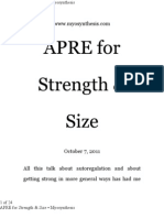 APRE for Strength & Size