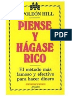 Resumen del Libro Piense y Hágase Rico (Napoleón Hill)