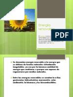 Energía renovable PPT