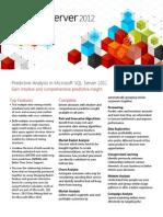 SQL Server 2012 Data Mining Datasheet Mar2012