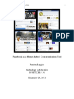 artifact 1-facebook as a school-home communication tool
