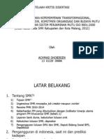 Critial Review Disertasi, 2012