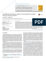 Load-following performance analysis of a microturbine for islanded and grid connected operation