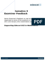 GCE Maths Examiner Feedback C3