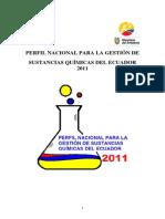 PERFIL NACIONAL PARA LA GESTION DE SUSTANCIAS QUÍMICAS DEL ECUADOR