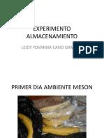 EXPERIMENTO ALMACENAMIENTO