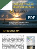 PROPIEDADES ÓPTICAS DE LOS SISTEMAS COLOIDALES