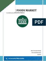 Planificacion Estrategica Whole Foods Market. TRABAJO FINAL
