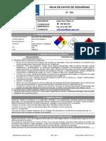 Hoja de Datos de Seguridad de Productos Quimicos