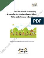 5. De formación y acompañamiento a familias de niños y niñas en Primera Infancia