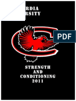 Strength & Conditioning - Concordia Univ 2011