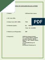 Led Solar Lantern project report