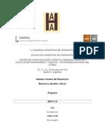 Programa X Congreso AAH