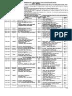 BISE Faisalabad Date Sheet Inter Annual 2014