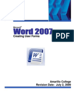 Word 2007 Forms