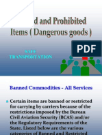 Banned Goods in Courier Industry