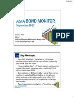 アジア開発銀行駐日代表事務所セミナー「アジア債券モニター」(2013年9月26日)