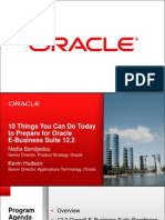10 Things You Can Do Today to Prepare for Oracle E-Business Suite 12.2