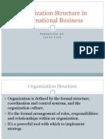 organization structure in international business