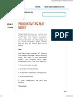 _ Produktivitas sAlat Berat